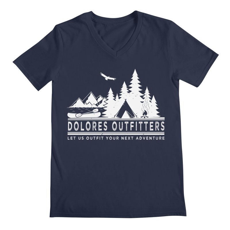 Outfitters Camp Men's Regular V-Neck by dolores outfitters's Artist Shop