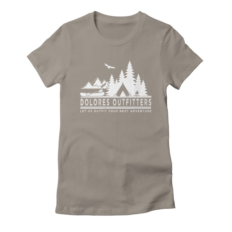 Outfitters Camp Women's Fitted T-Shirt by dolores outfitters's Artist Shop