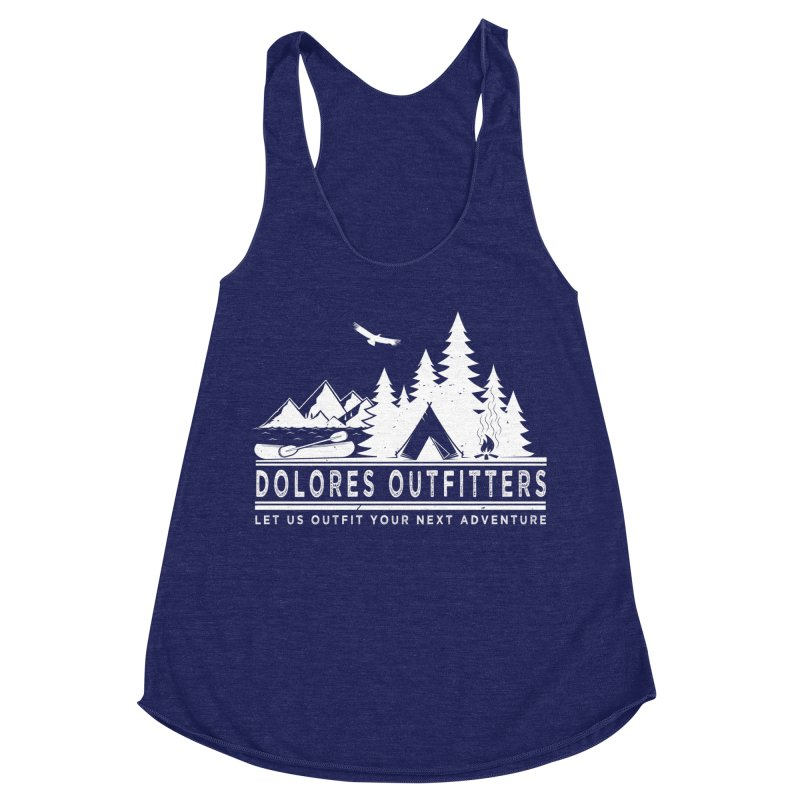 Outfitters Camp Women's Racerback Triblend Tank by dolores outfitters's Artist Shop