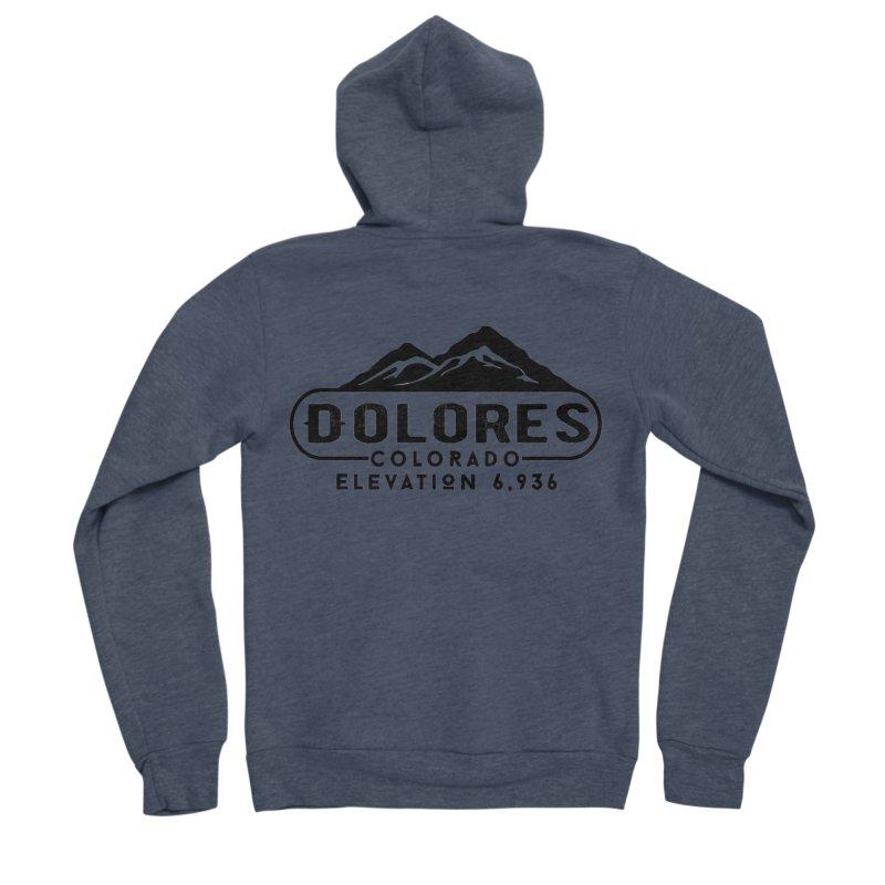 Dolores Colorado Men's Sponge Fleece Zip-Up Hoody by dolores outfitters's Artist Shop