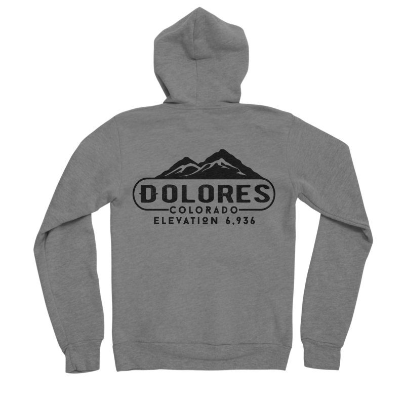 Dolores Colorado Women's Sponge Fleece Zip-Up Hoody by dolores outfitters's Artist Shop