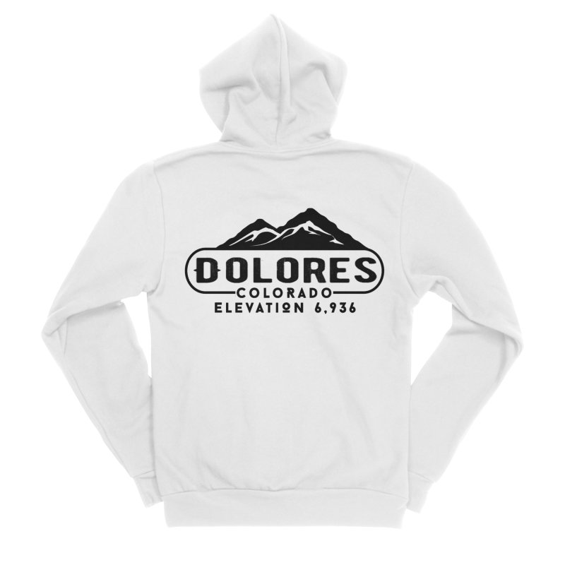 Dolores Colorado Women's Sponge Fleece Zip-Up Hoody by dolores outfitters's Artist Shop