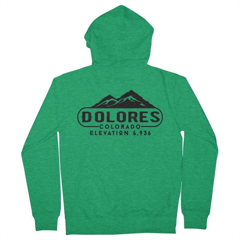 Dolores Colorado Women's French Terry Zip-Up Hoody by dolores outfitters's Artist Shop