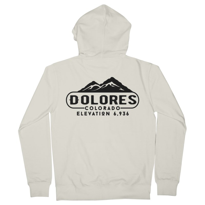 Dolores Colorado Men's French Terry Zip-Up Hoody by dolores outfitters's Artist Shop