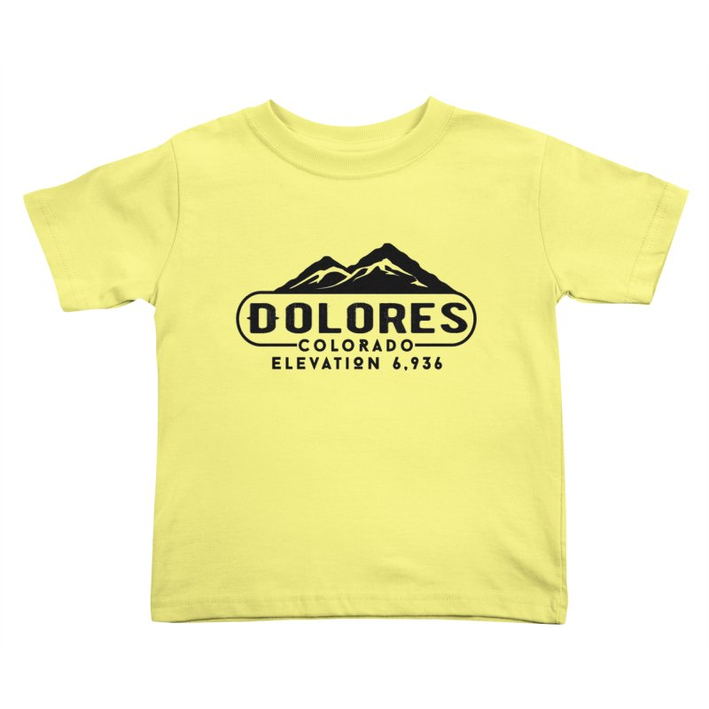 Dolores Colorado Kids Toddler T-Shirt by dolores outfitters's Artist Shop