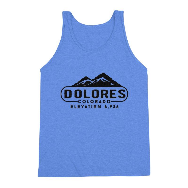 Dolores Colorado Men's Triblend Tank by dolores outfitters's Artist Shop