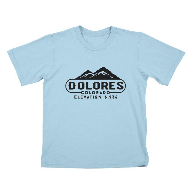 Dolores Colorado Kids T-Shirt by dolores outfitters's Artist Shop