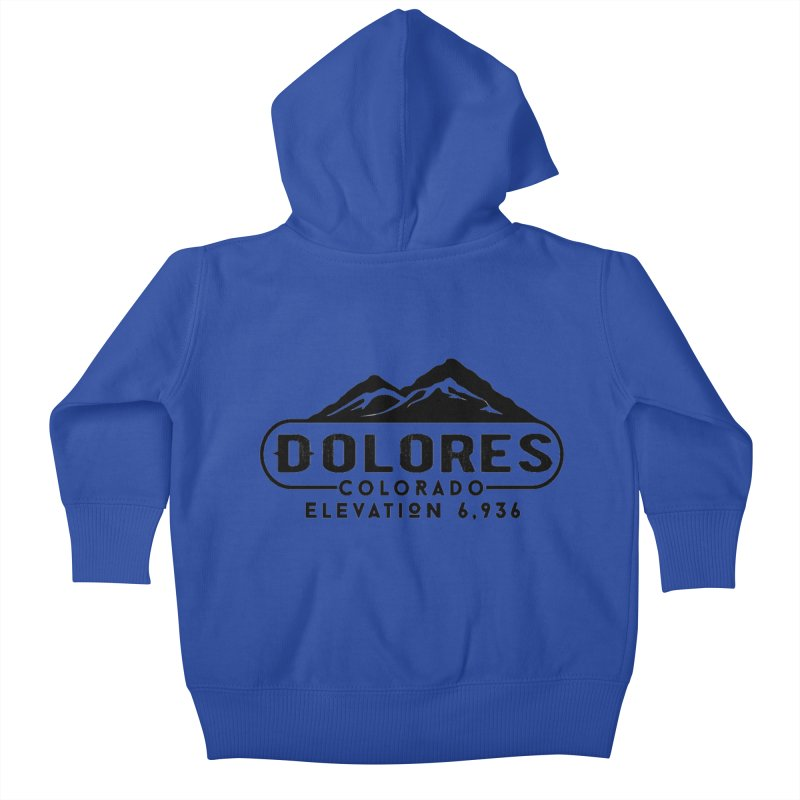 Dolores Colorado Kids Baby Zip-Up Hoody by dolores outfitters's Artist Shop