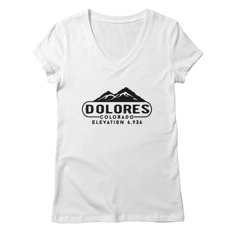 Dolores Colorado Women's Regular V-Neck by dolores outfitters's Artist Shop