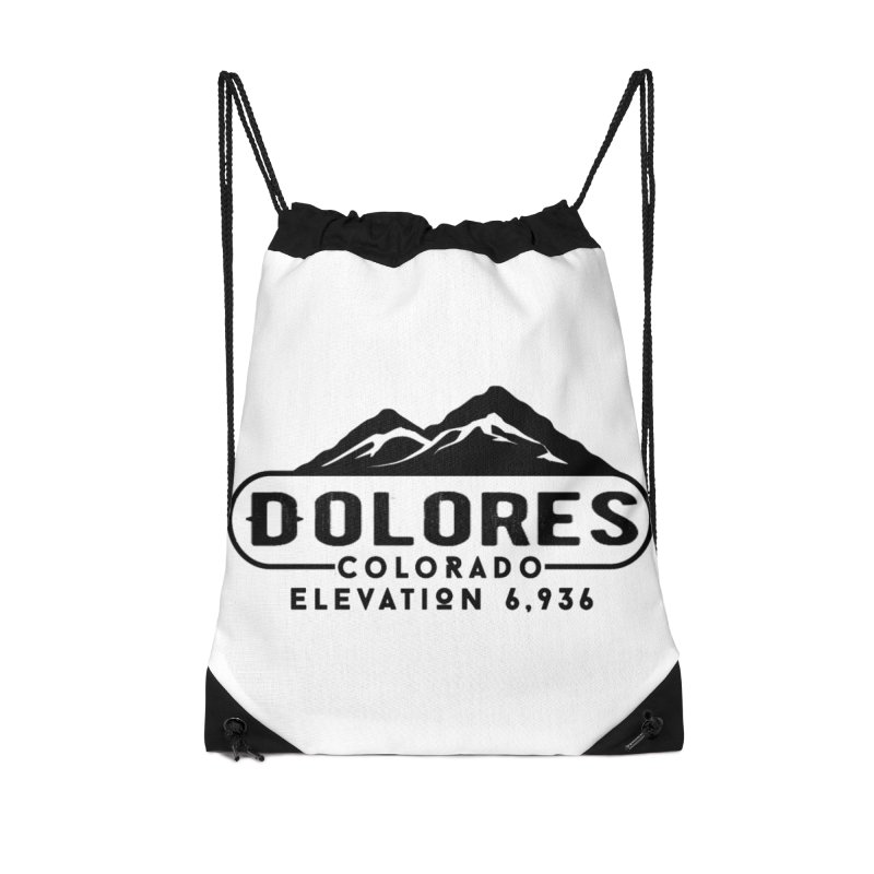 Dolores Colorado Accessories Drawstring Bag Bag by dolores outfitters's Artist Shop