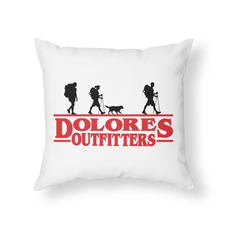 Strange Hike Home Throw Pillow by dolores outfitters's Artist Shop