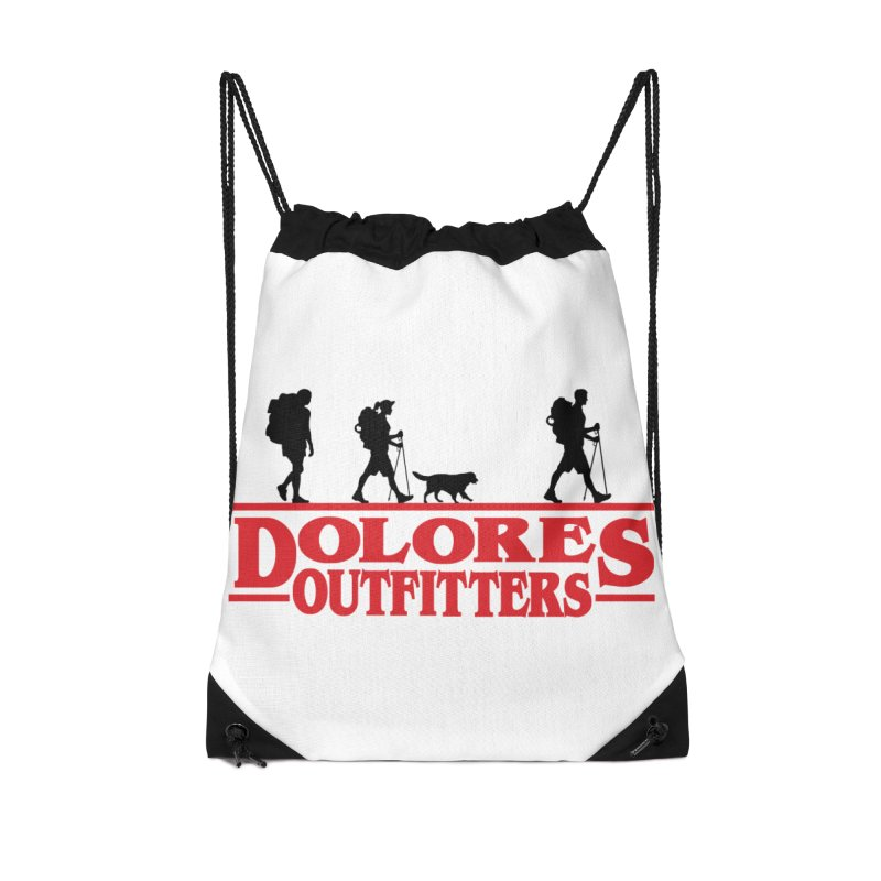 Strange Hike Accessories Drawstring Bag Bag by dolores outfitters's Artist Shop