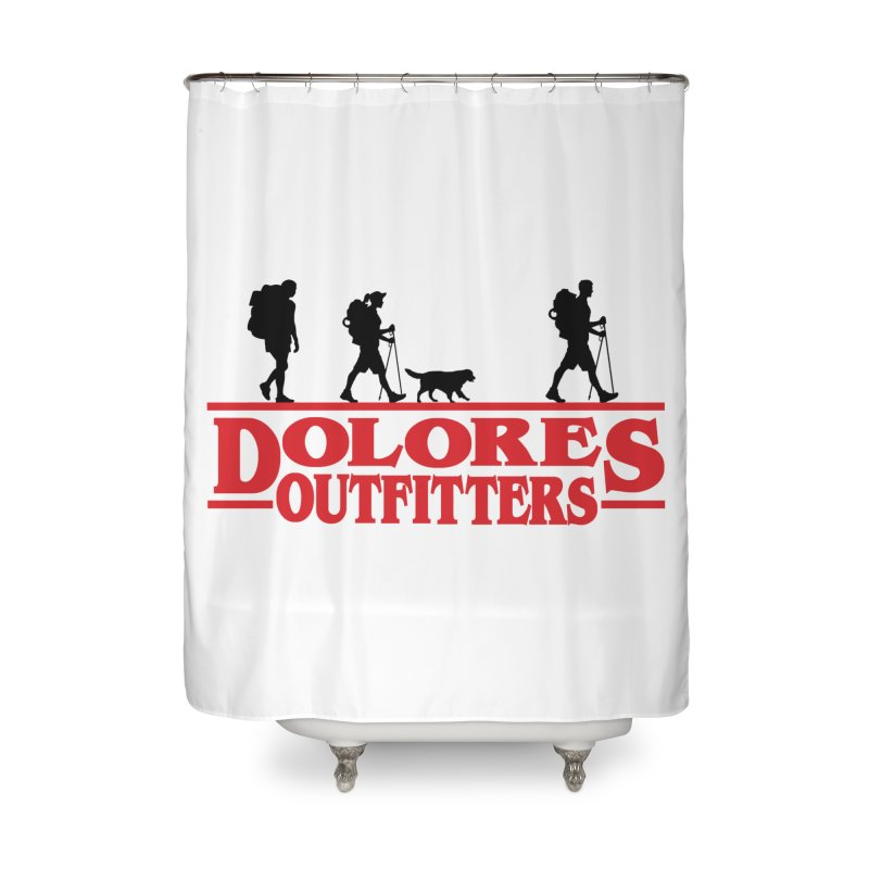 Strange Hike Home Shower Curtain by dolores outfitters's Artist Shop