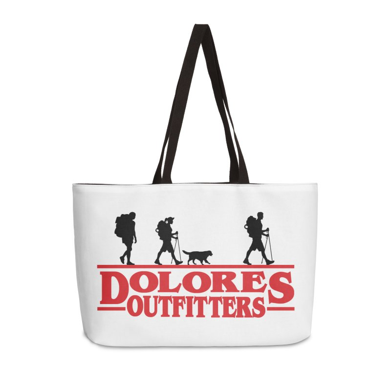 Strange Hike Accessories Weekender Bag Bag by dolores outfitters's Artist Shop