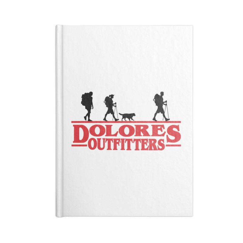 Strange Hike Accessories Blank Journal Notebook by dolores outfitters's Artist Shop