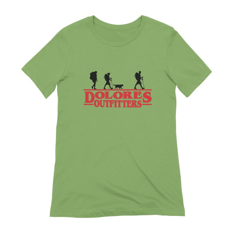 Strange Hike Women's Extra Soft T-Shirt by dolores outfitters's Artist Shop