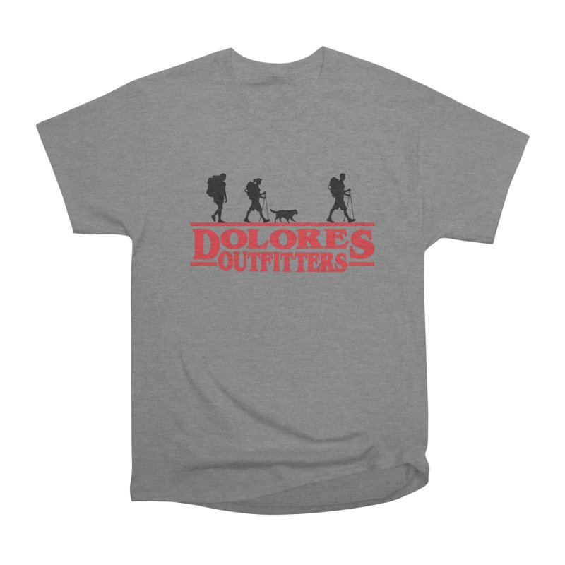 Strange Hike Men's Heavyweight T-Shirt by dolores outfitters's Artist Shop