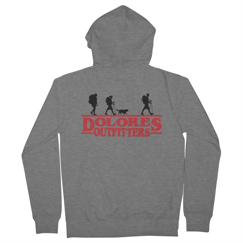 Strange Hike Women's French Terry Zip-Up Hoody by dolores outfitters's Artist Shop