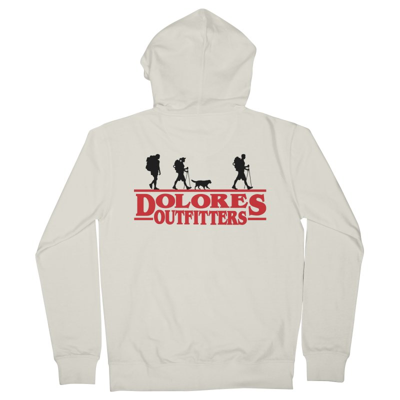 Strange Hike Men's French Terry Zip-Up Hoody by dolores outfitters's Artist Shop