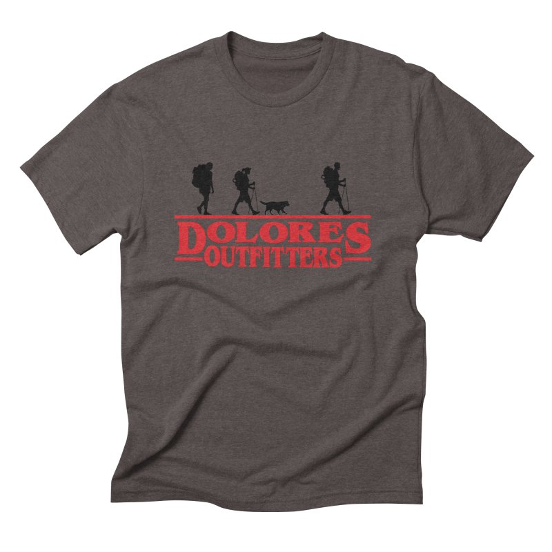 Strange Hike Men's Triblend T-Shirt by dolores outfitters's Artist Shop