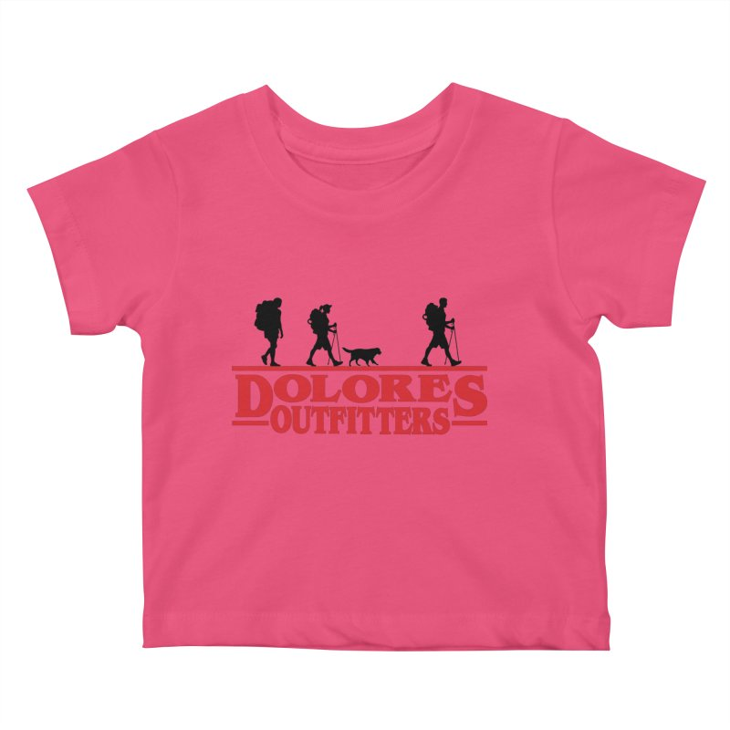 Strange Hike Kids Baby T-Shirt by dolores outfitters's Artist Shop