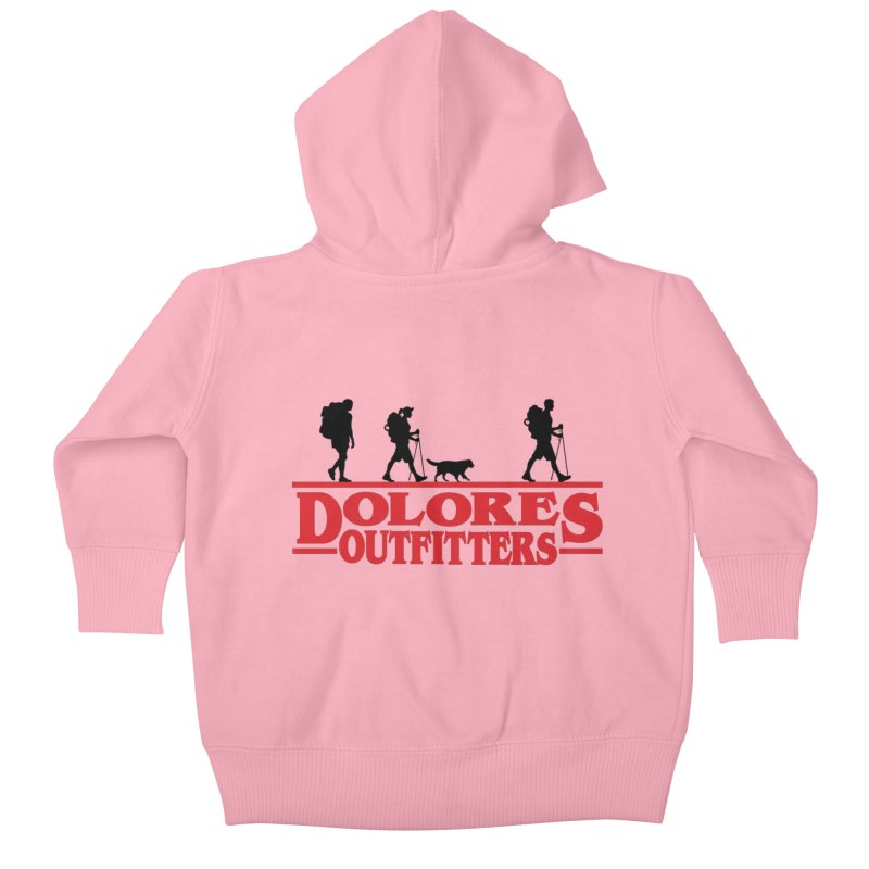 Strange Hike Kids Baby Zip-Up Hoody by dolores outfitters's Artist Shop