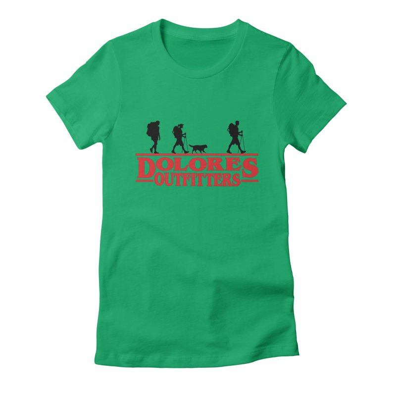 Strange Hike Women's Fitted T-Shirt by dolores outfitters's Artist Shop