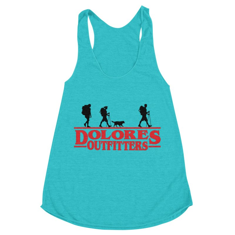 Strange Hike Women's Racerback Triblend Tank by dolores outfitters's Artist Shop