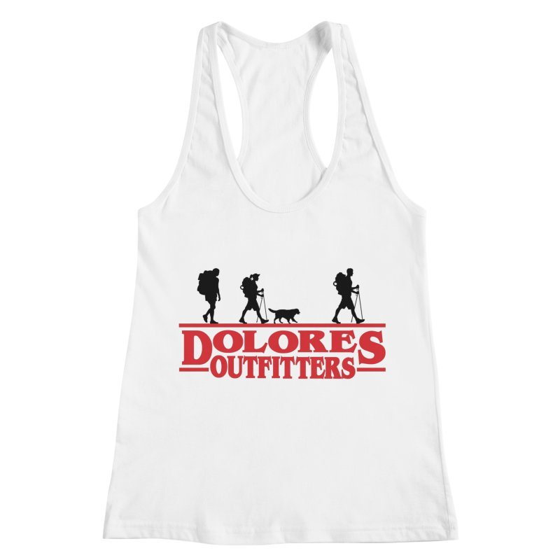 Strange Hike Women's Racerback Tank by dolores outfitters's Artist Shop