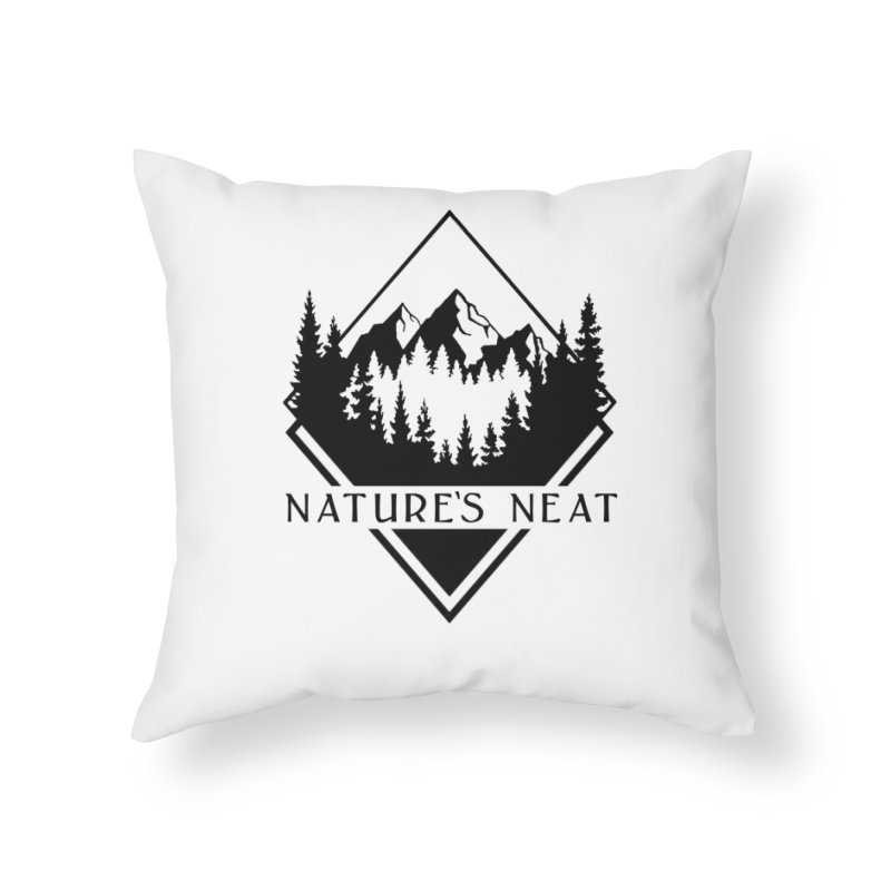 Nature's Neat Home Throw Pillow by dolores outfitters's Artist Shop
