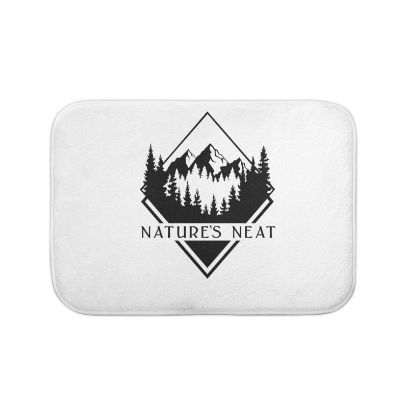 Nature's Neat Home Bath Mat by dolores outfitters's Artist Shop