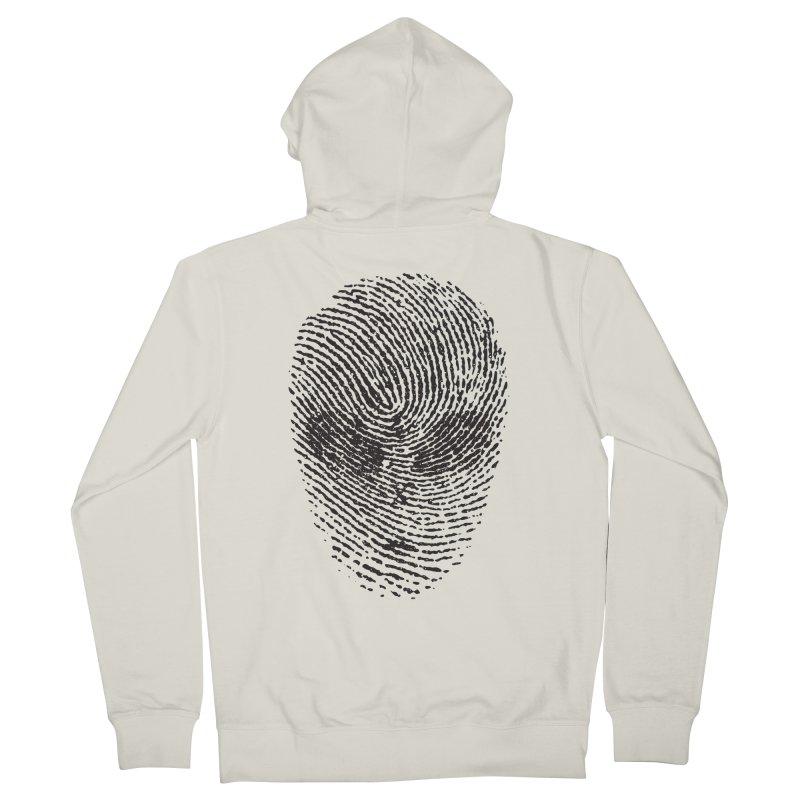 Fingerprint Men's Zip-Up Hoody by DOMINATE'S Artist Shop