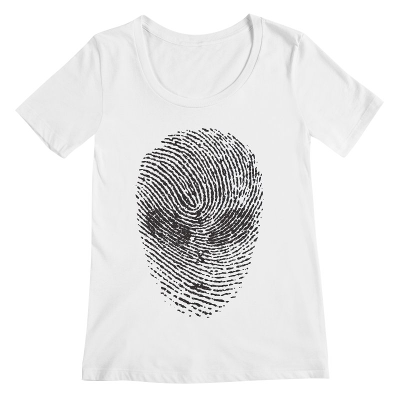 Fingerprint Women's Scoopneck by DOMINATE'S Artist Shop