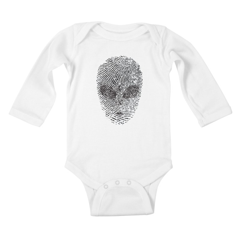 Fingerprint Kids Baby Longsleeve Bodysuit by DOMINATE'S Artist Shop