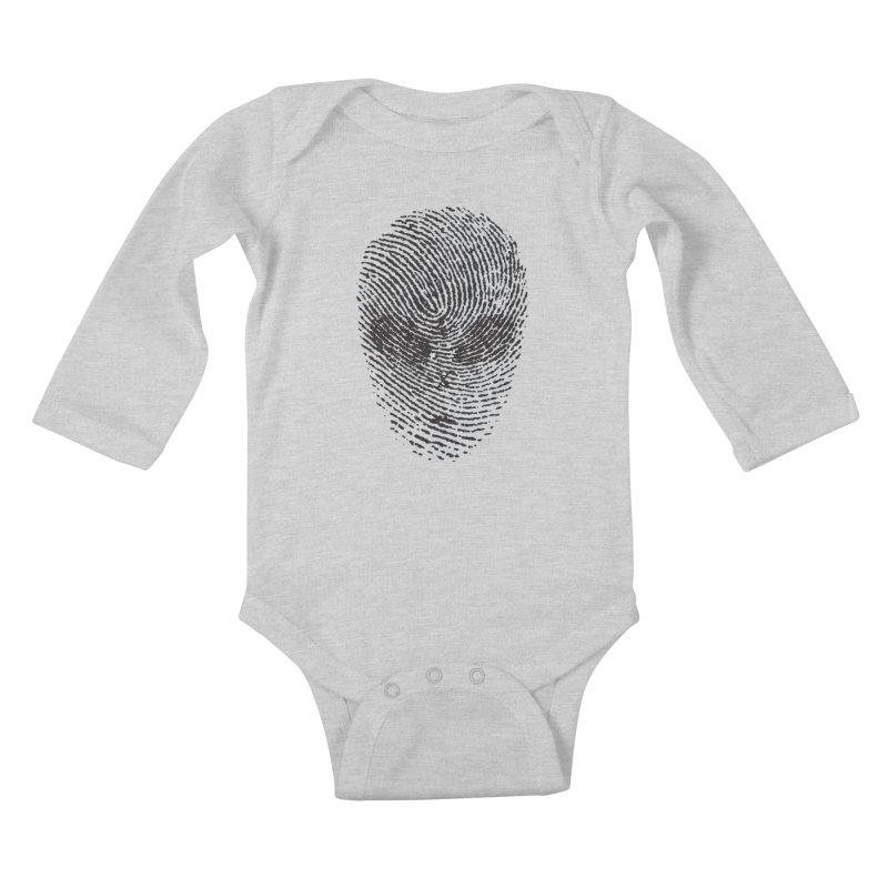 Fingerprint Kids Baby Longsleeve Bodysuit by DOMINATE'S Artist Shop
