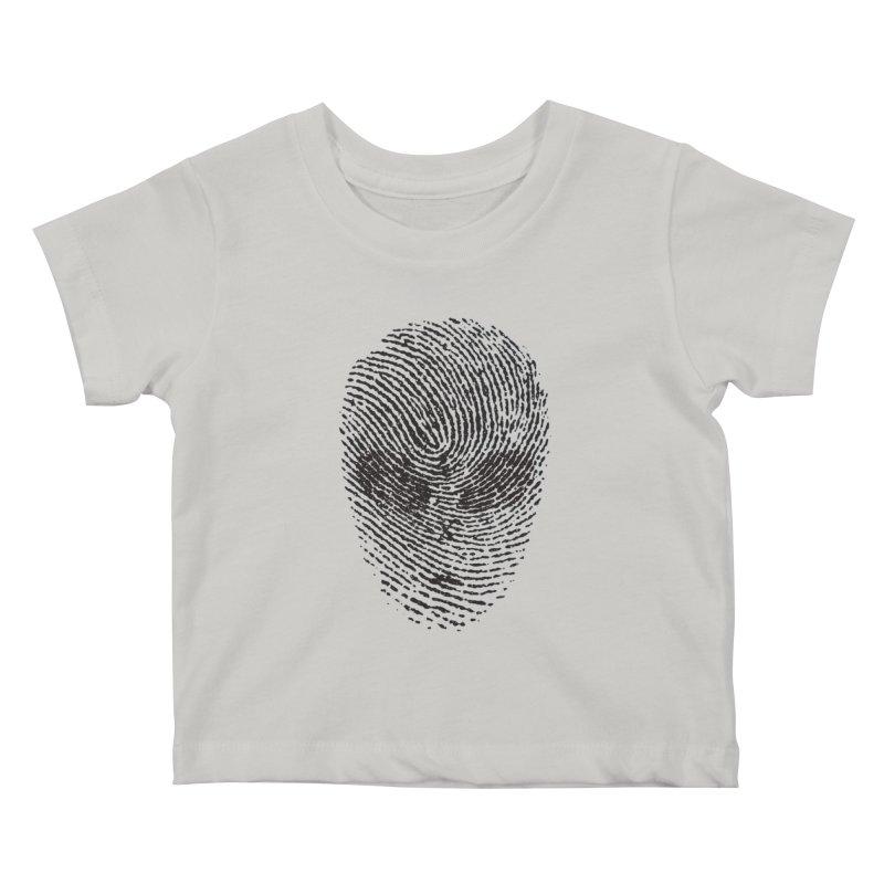 Fingerprint Kids Baby T-Shirt by DOMINATE'S Artist Shop