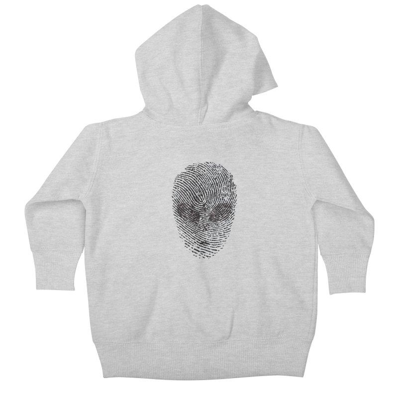 Fingerprint Kids Baby Zip-Up Hoody by DOMINATE'S Artist Shop