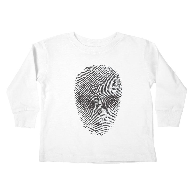Fingerprint Kids Toddler Longsleeve T-Shirt by DOMINATE'S Artist Shop