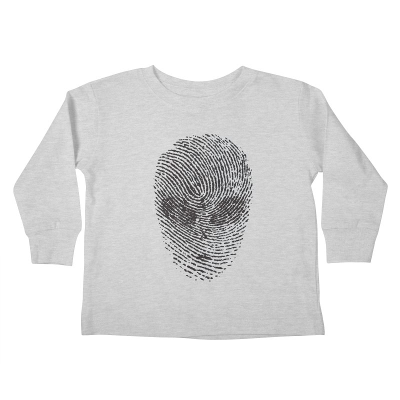 Fingerprint Kids Toddler Longsleeve T-Shirt by DOMINATE'S Artist Shop