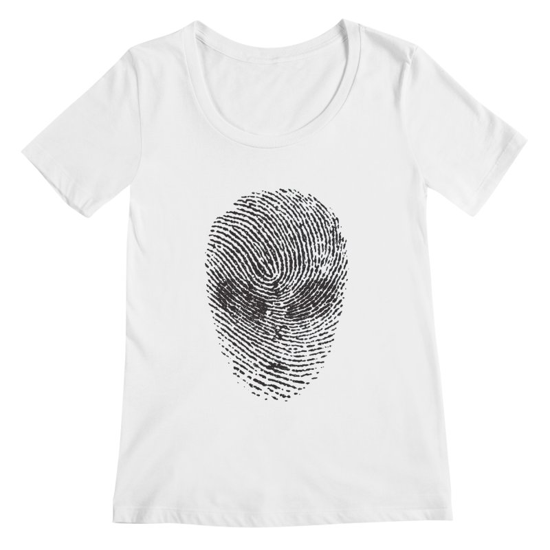 Fingerprint Women's Scoopneck by DOMINATE'S Artist Shop