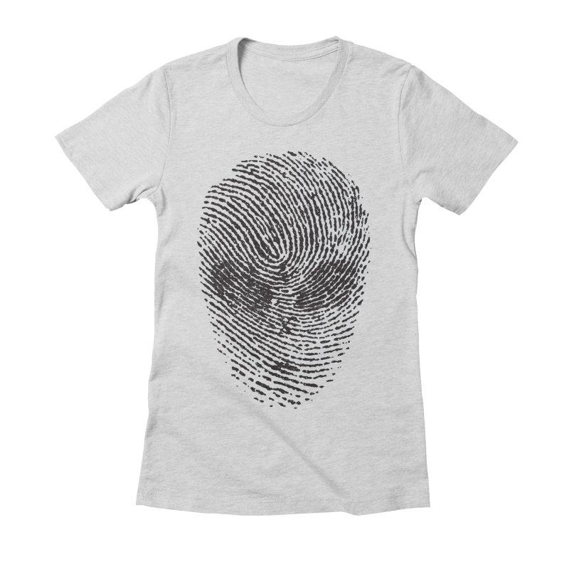 Fingerprint Women's Fitted T-Shirt by DOMINATE'S Artist Shop