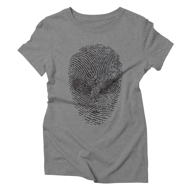 Fingerprint Women's Triblend T-shirt by DOMINATE'S Artist Shop