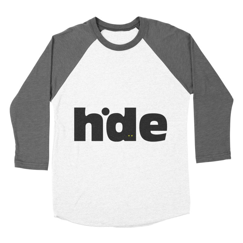 Hide Women's Baseball Triblend T-Shirt by DOMINATE'S Artist Shop