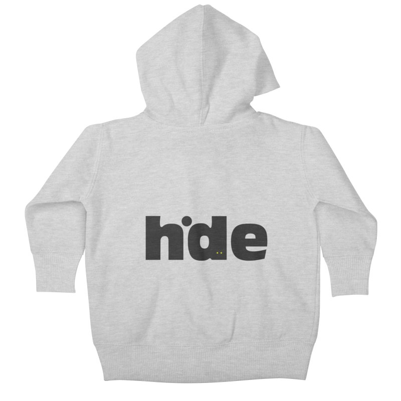 Hide Kids Baby Zip-Up Hoody by DOMINATE'S Artist Shop