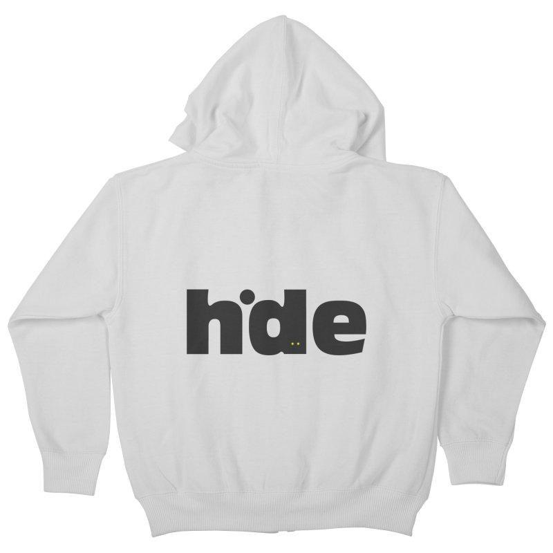 Hide Kids Zip-Up Hoody by DOMINATE'S Artist Shop