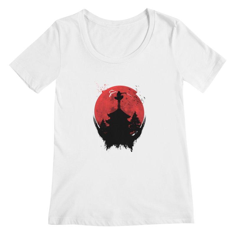 Ninja Women's Scoopneck by DOMINATE'S Artist Shop