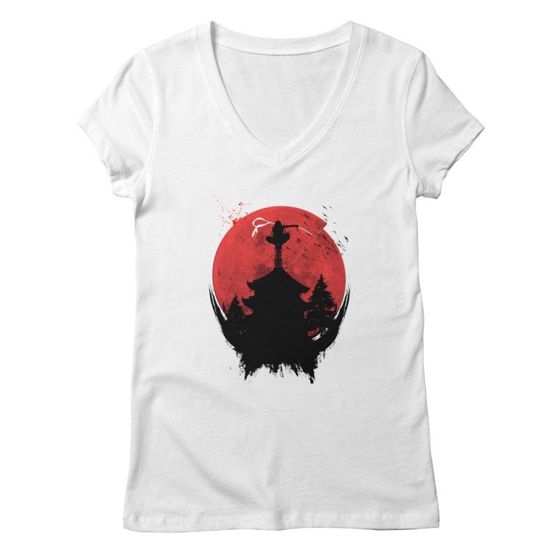 Ninja Women's V-Neck by DOMINATE'S Artist Shop