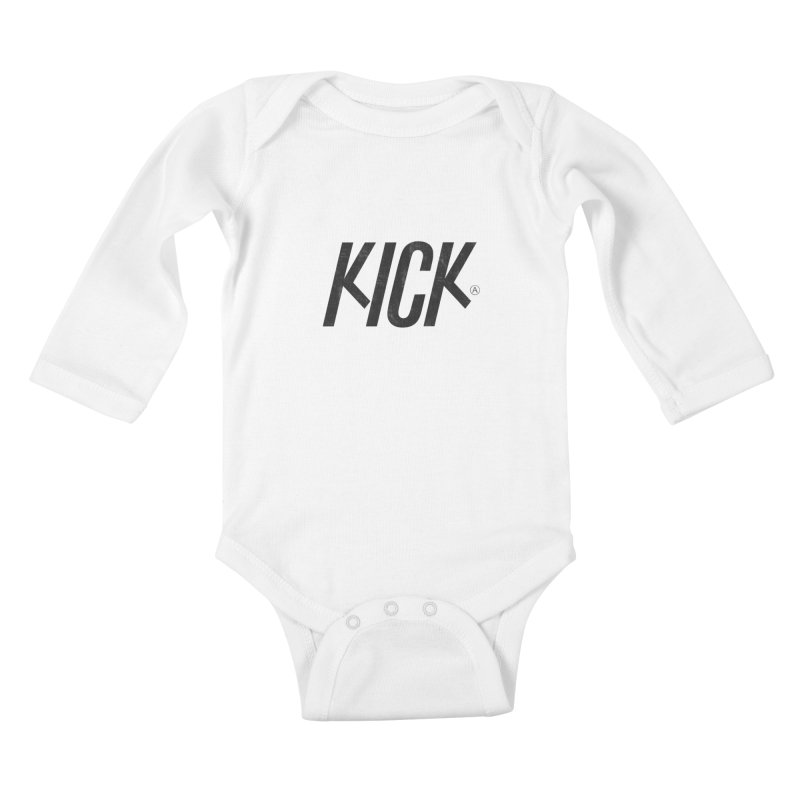 Kick Kids Baby Longsleeve Bodysuit by DOMINATE'S Artist Shop