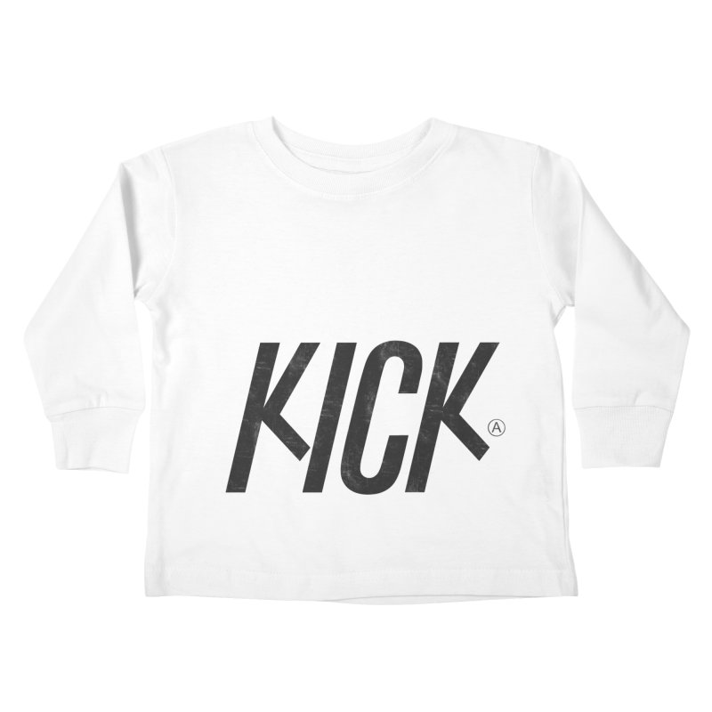Kick Kids Toddler Longsleeve T-Shirt by DOMINATE'S Artist Shop