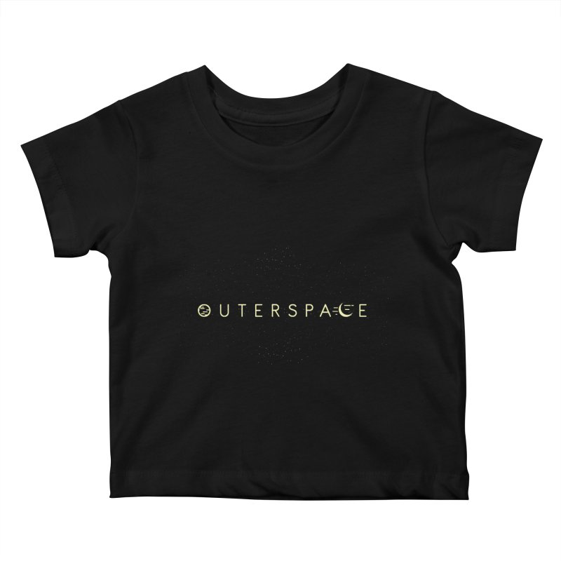 Outerspace Kids Baby T-Shirt by DOMINATE'S Artist Shop